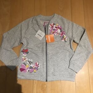 NWT girl's floral bomber jacket